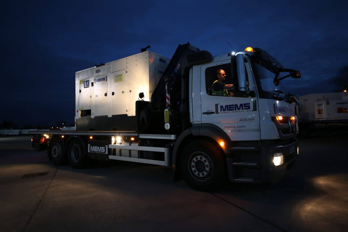 Generator hire for planned and emergency power outages - MEMS Power Generation