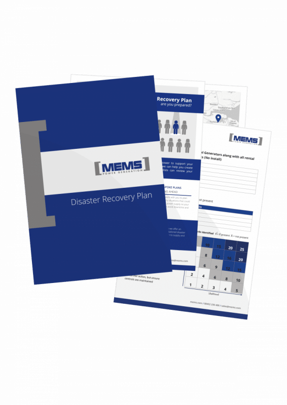 The MEMS Disaster Recovery Plan - Emergency Power Generation
