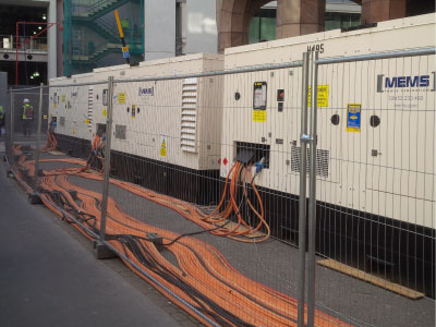 Temporary Fencing Hire - Generator Hire Accessories - MEMS Power Generation